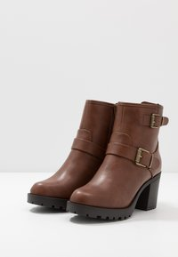 Anna Field Wide Fit - Platform ankle boots - brown - 4