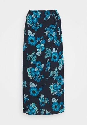 SUNRAY SARONG SKIRT - Spódnica trapezowa - blue