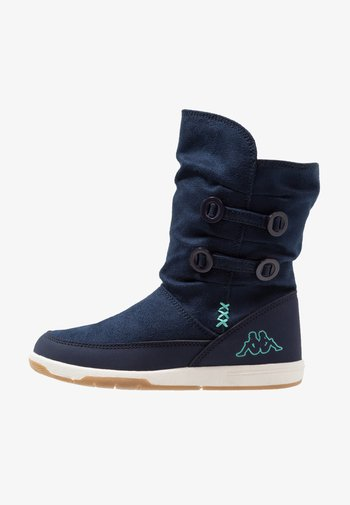 Winter boots - navy/mint