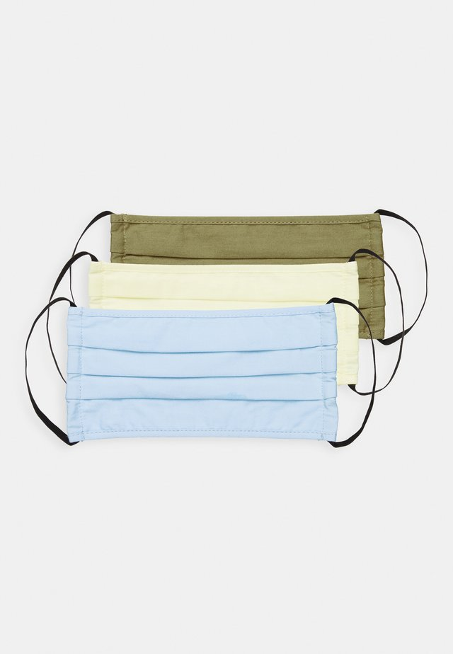 3 PACK - Kasvomaski - light blue/khaki/camel