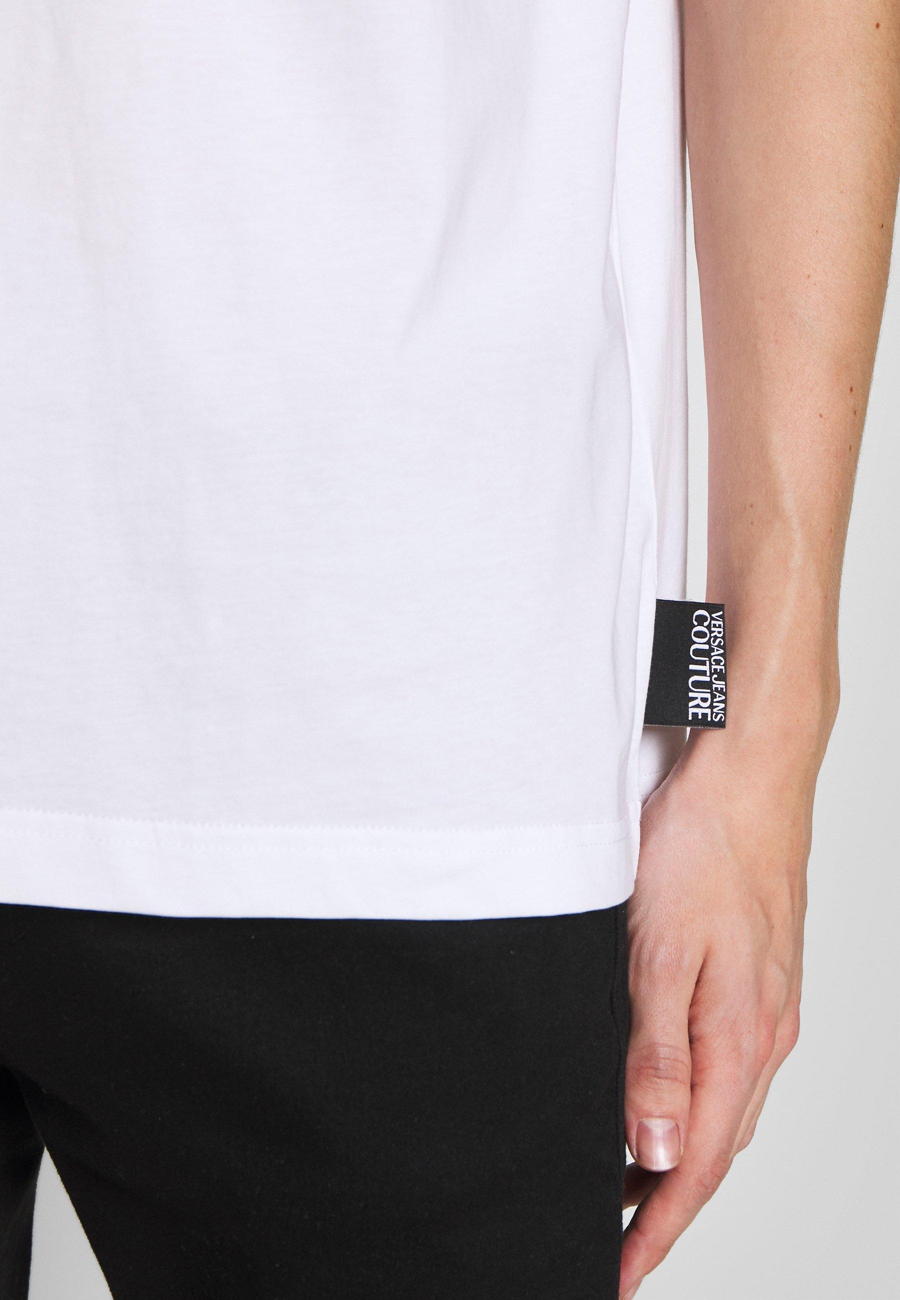 Versace Jeans Couture BASIC LOGO REGULAR FIT - T-shirt imprimé - white / red