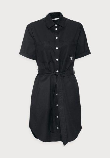 UTILITY SHIRT DRESS - Day dress - black