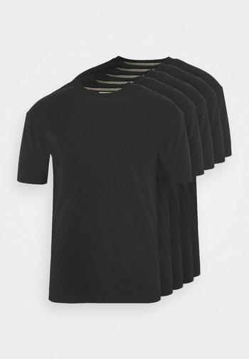 TEE 5 PACK - T-paita - black