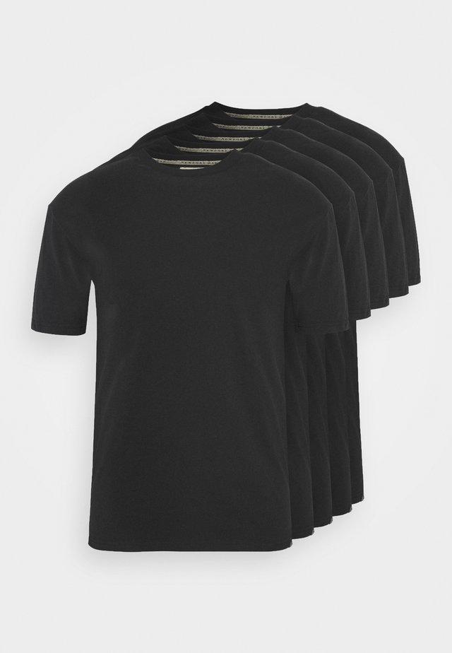 TEE 5 PACK - Basic T-shirt - black