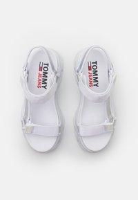 Tommy Jeans - IRIDESCENT HYBRID  - Platform sandals - white - 5
