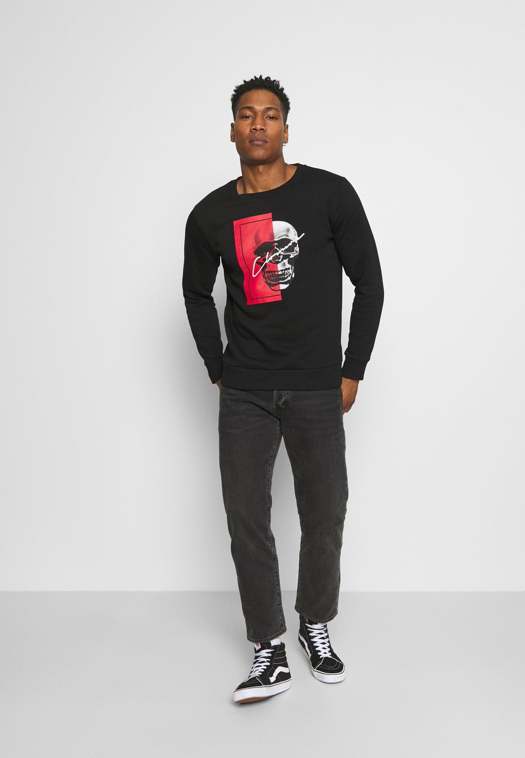 Homme SPLIT SKULL - Sweatshirt