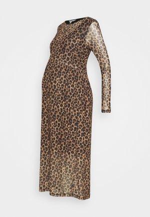 TABBY CROP NURSING DRESS - Maxi dress - brown/black