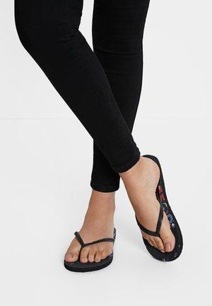 BUTTERFLY - T-bar sandals - black