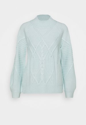 CABLE HIGH NECK JUMPER - Maglione - mint