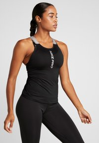 Nike Performance - CAPSULE ELASTIKA TANK  - Sports shirt - black/metallic silver - 0