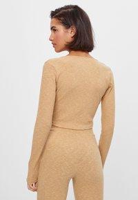 Bershka - Long sleeved top - beige - 2