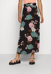ONLY - ONLNOVA LUX LONG SKIRT  - Maxi skirt - black - 0