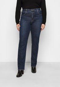 Lee Plus - CLASSIC - Straight leg -farkut - dark-blue denim - 0