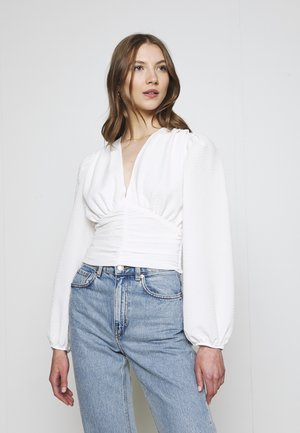VIC BLOUSE - Blouse - offwhite