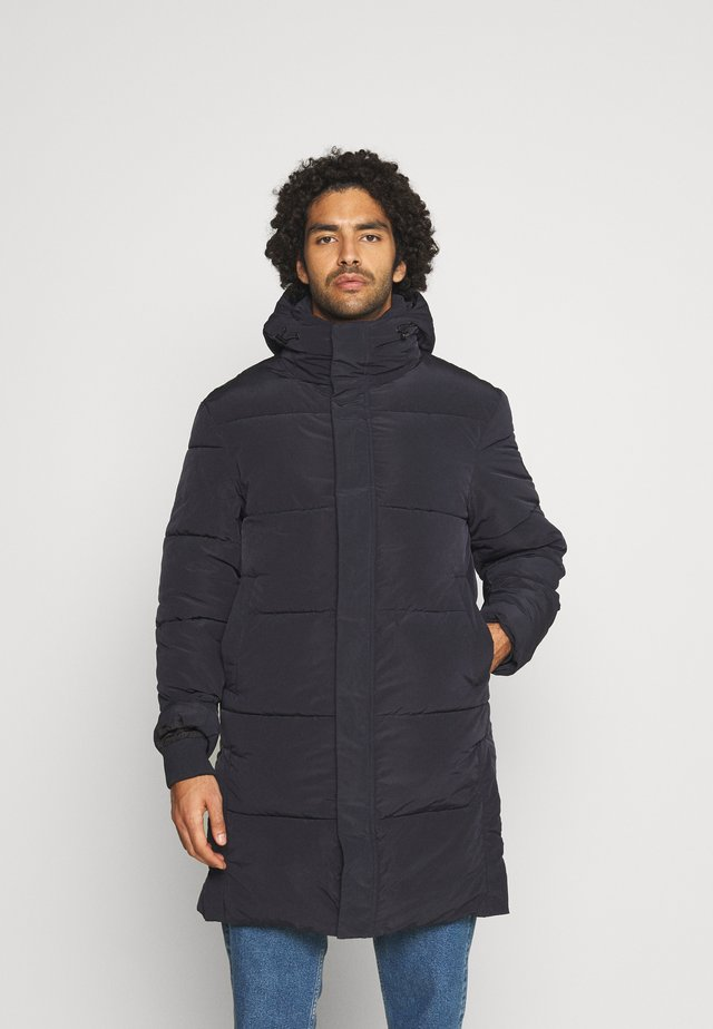 REPREVE LONG HOODED PUFFER JACKET - Winter coat - night
