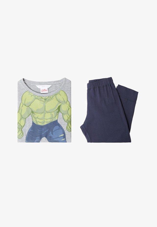 Pyjama set - mittelgrau meliert
