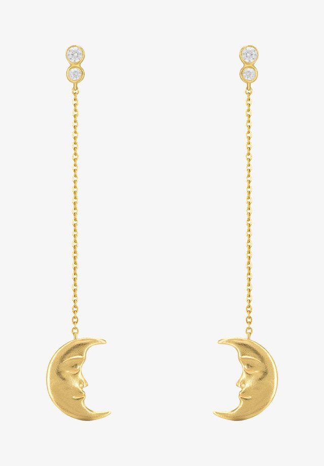 HANGING MOON EARRINGS - Orecchini - gold