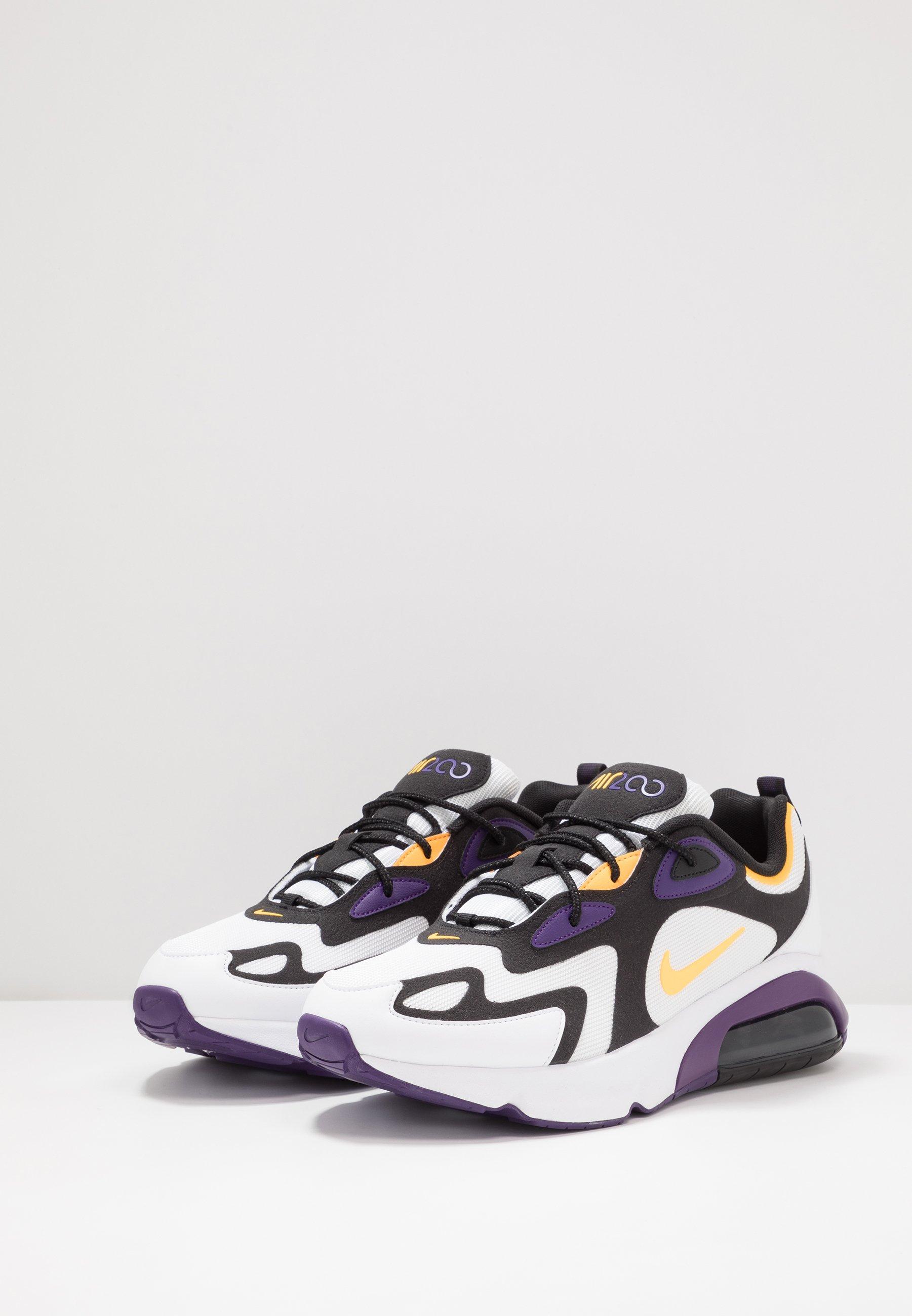 Nike Sportswear AIR MAX 200 - Sneaker low - white/laser orange/eggplant/black/weiß - Herrenschuhe IAQk5