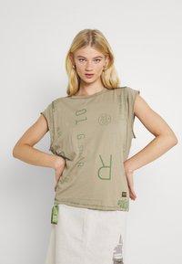 G-Star - GSRAW KNOT  - T-shirt print - hatton contour - 0