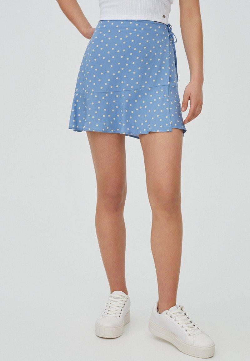 PULL&BEAR - A-line skirt - dark grey