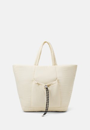 TOGGLE RUCHED TOTE - Tote bag - stone