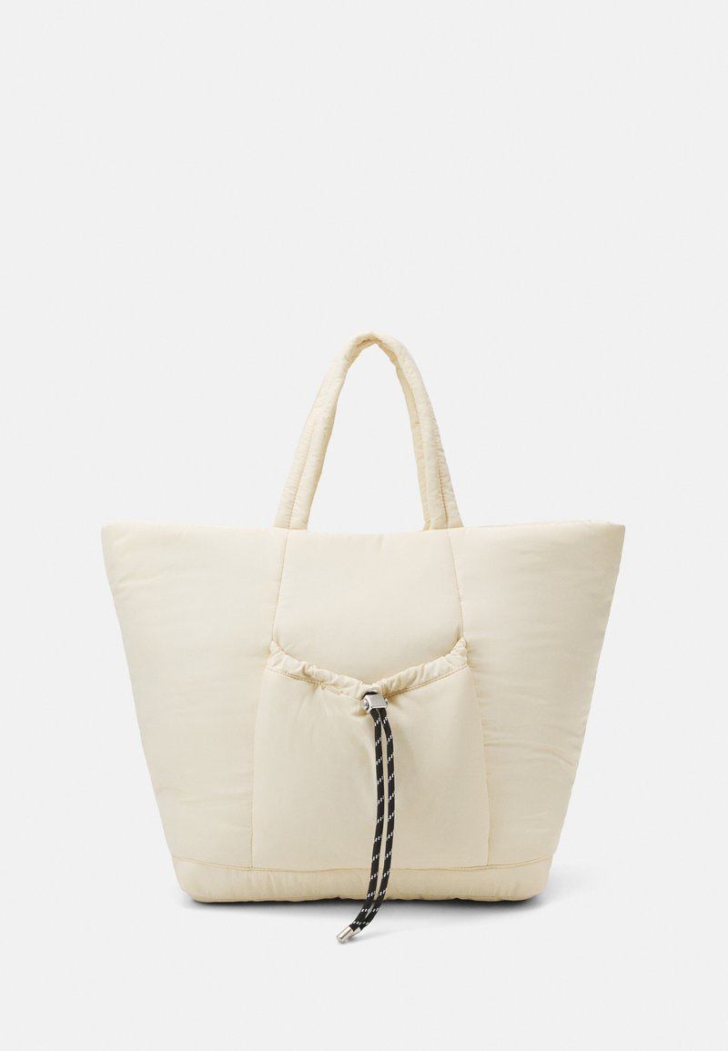 Topshop - TOGGLE RUCHED TOTE - Cabas - stone