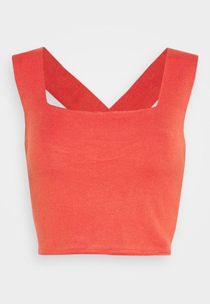 EMIL CROPPED GOLDIG - Top - red