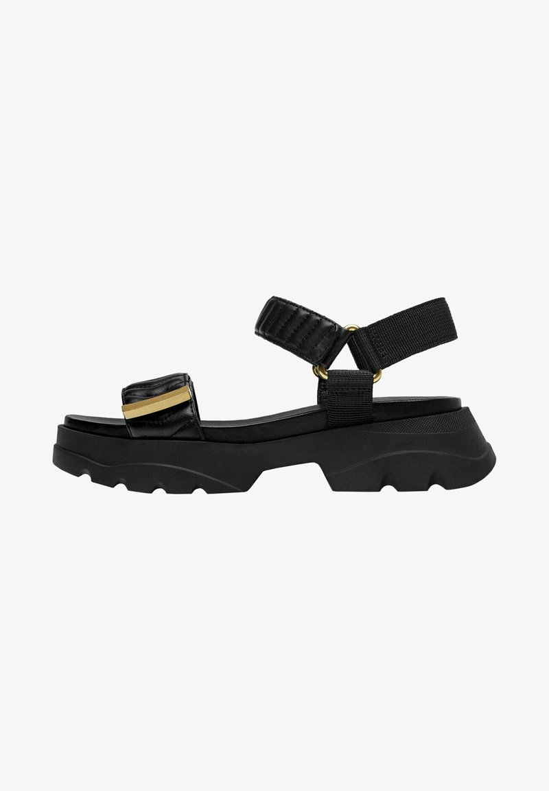 Uterqüe - MIT SOHLE IM SNEAKER-STIL - Platform sandals - black