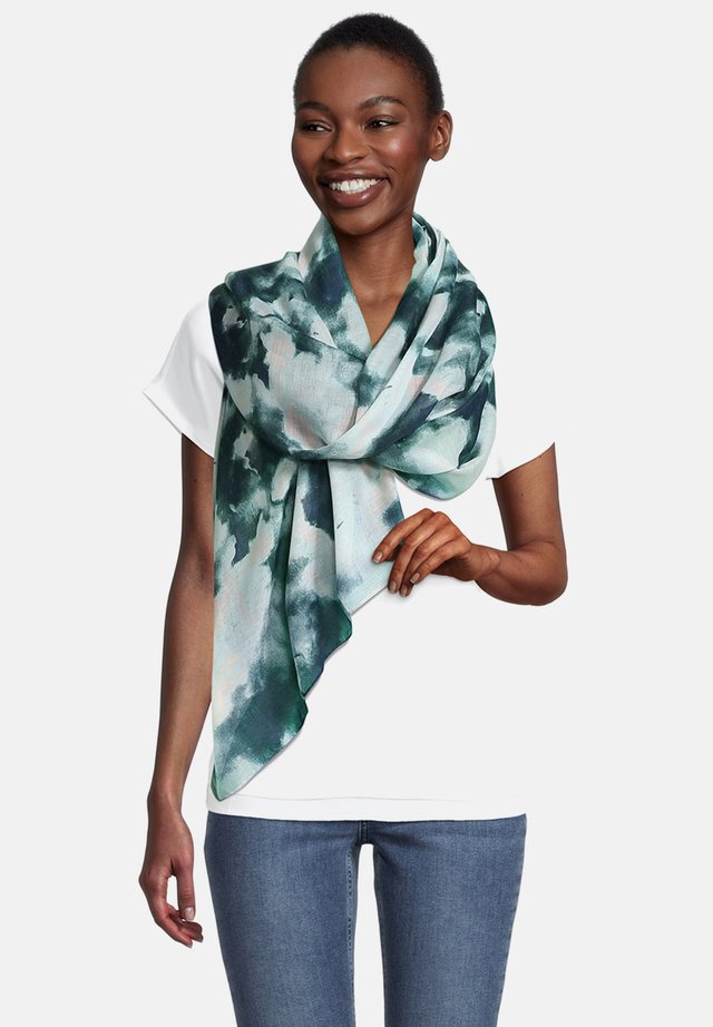 Sjaal - khaki/blau