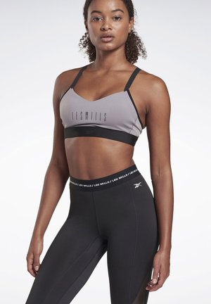 LES MILLS® LUX MEDIUM-IMPACT STRAPPY BRA - Sports bra - grey