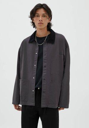 UTILITY MIT CORDKRAGEN - Summer jacket - black