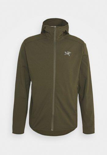 KYANITE LT HOODY MENS - Fleece jacket - green