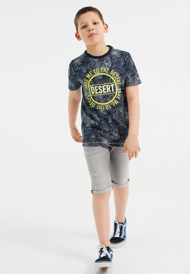 WE Fashion - T-shirt con stampa - blue
