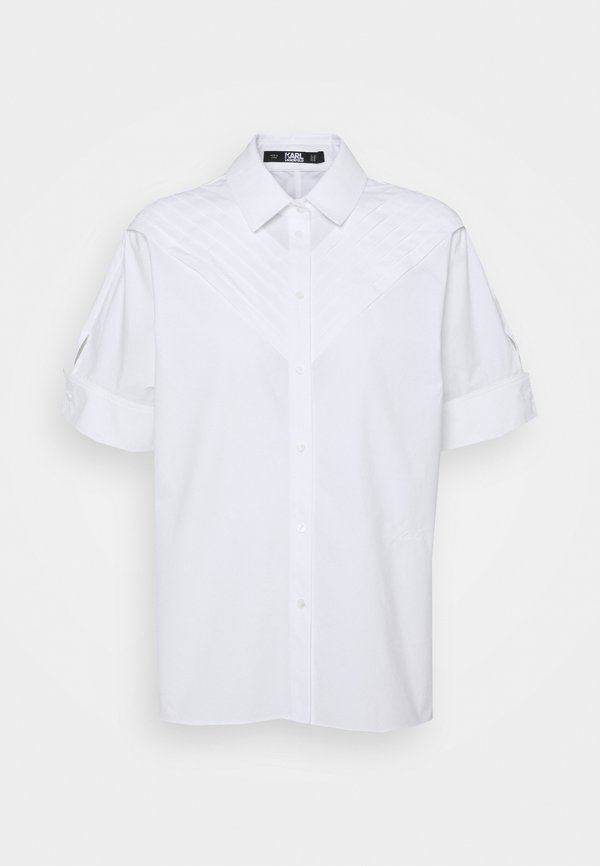KARL LAGERFELD PLEAT TUCK - Koszula - white/biały UAVU