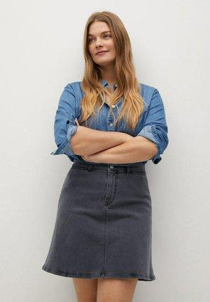 ALBA - A-line skirt - denim grau