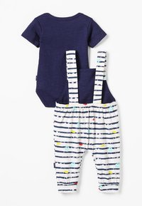 Noppies - DUNGAREE ROMPER RIFLE BABY ZGREEN - Body - patriot blue - 1