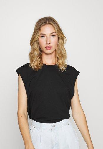 T-shirts - black dark/white light