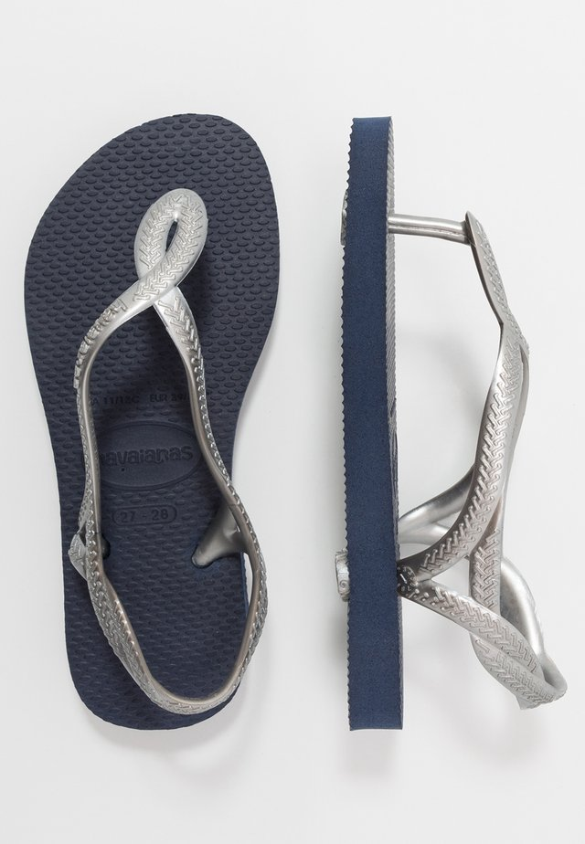 LUNA - Pool shoes - navy/silver