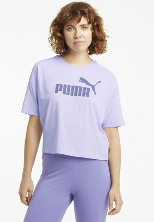 CROPPED LOGO - T-Shirt print - light lavender