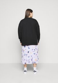 Zign - Slit Sides Oversized Sweatshirt - Bluza - black - 2