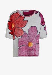 Oui - Print T-shirt - light grey red - 4