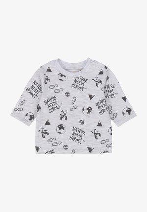 T-shirt print - gris clair chine