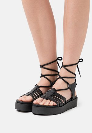 BILY - Platform sandals - black