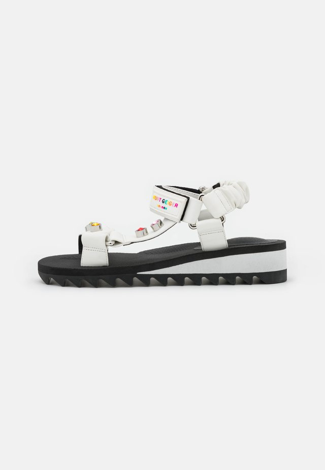 ORION - Wedge sandals - white
