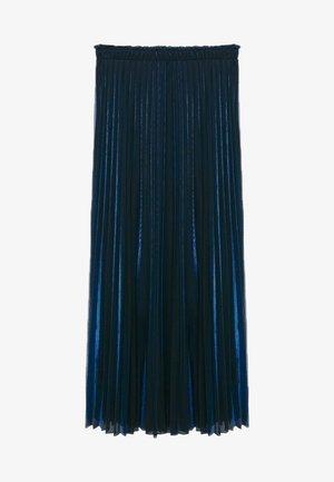 MOSQUETA-A - Pleated skirt - dunkles marineblau