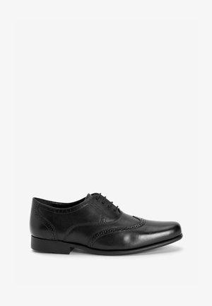 OXFORD BROGUES - Elegantní šněrovací boty - black