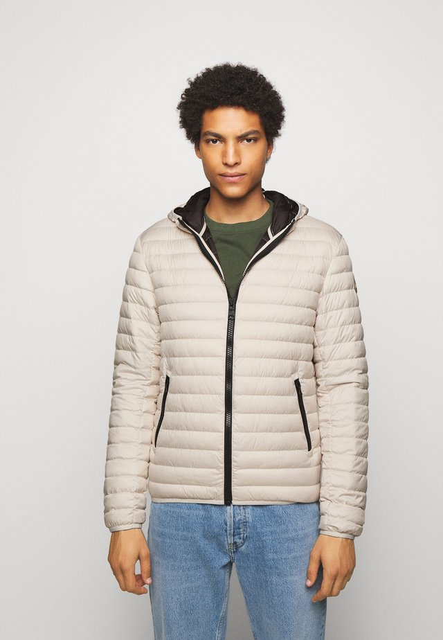 MENS JACKET - Down jacket - ivory-coffee