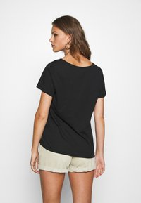 Even&Odd - 2 PACK - T-shirt basic - black/light grey melange - 2
