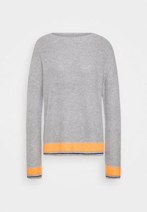 Neule - grey/orange