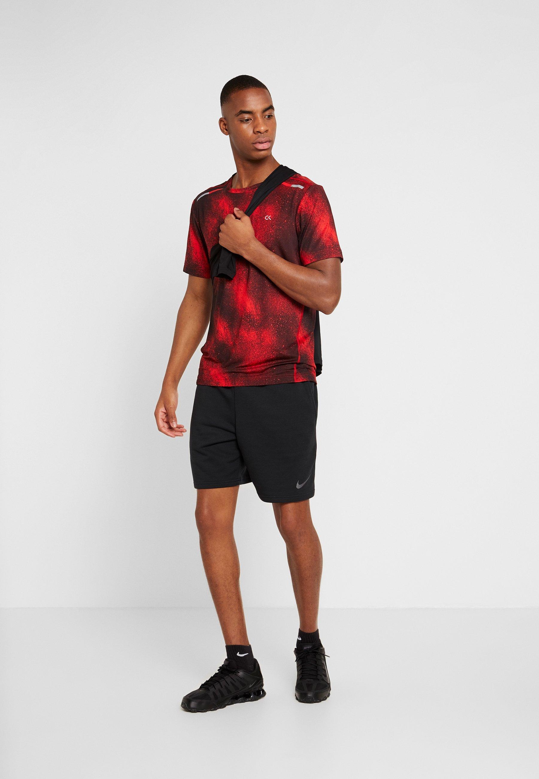 Calvin Klein Performance SHORT SLEEVE  - T-shirt imprimé - red